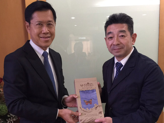 タイのポンテープ元副首相を表敬