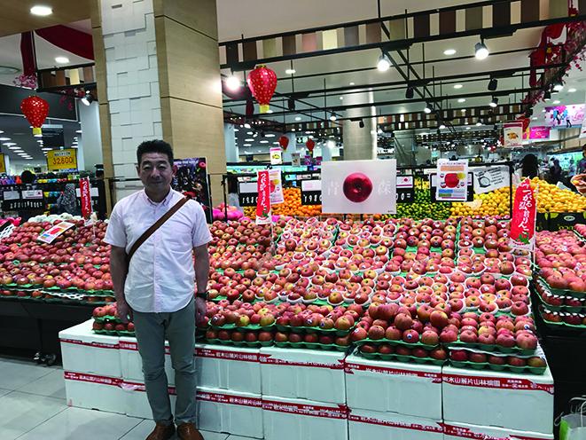 ジャカルタでのりんご販売試験と市場調査